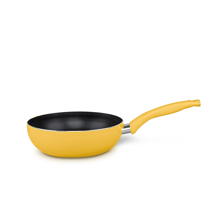 Living Essence Aluminium Fry Pans in Yellow Colour by Living Essence