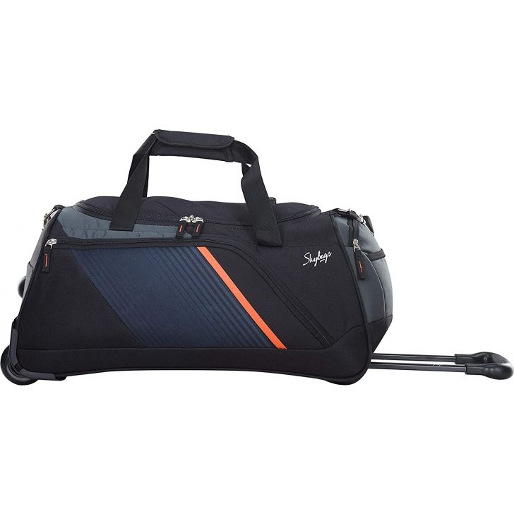 Arco 57 cm Polyester Duffle on Wheel in Black Colour by Skybags