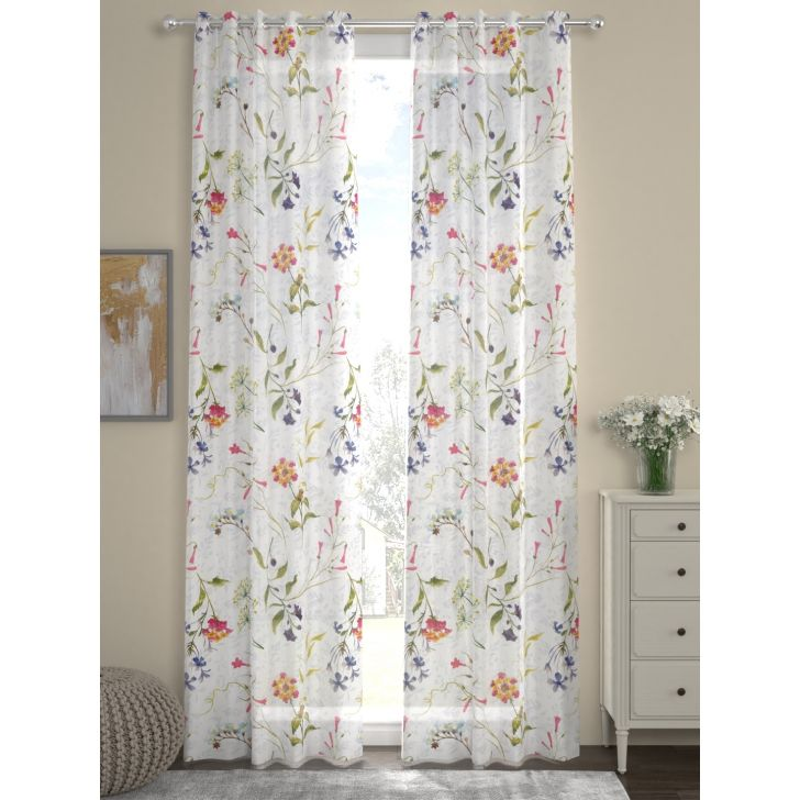 Voile Digi Door Curtain In Multicolor By Rosara Home