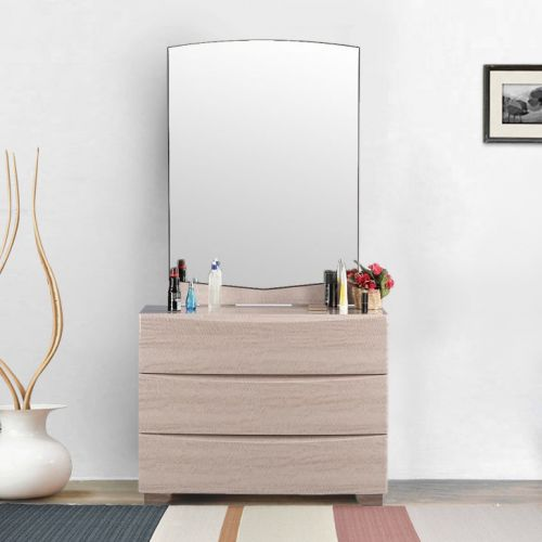 buy alexandria engineered wood dressing table in red cherry colour