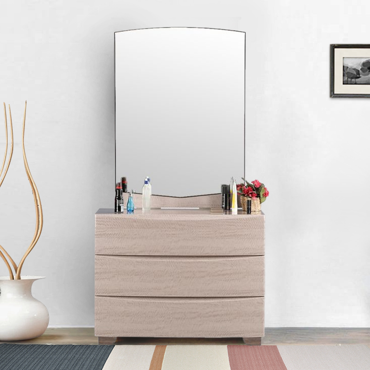 Alexandria Engineered Wood Dressing Table in Light Marble Colour by HomeTown