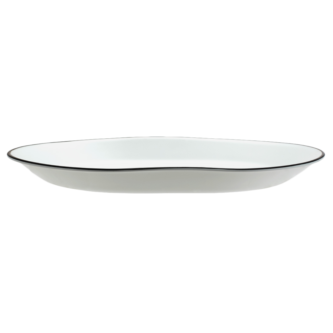 Corelle City Block Serving Platter Vitrelle Platters in White & Black Colour by Corelle