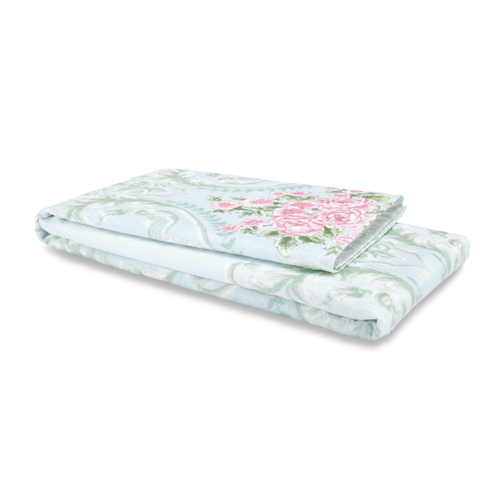 Spaces Atrium Cotton Double Bed Sheets in Skyblue Colour by Spaces