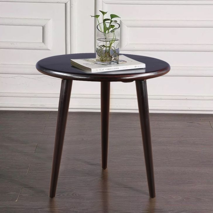 Alfa Solid Wood Tea Table in Cherry Brown Colour by HomeTown