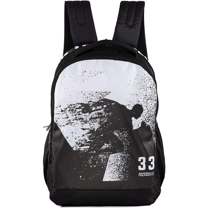 POP NXT 4 Polyester Backpack in Black Colour by American Tourister