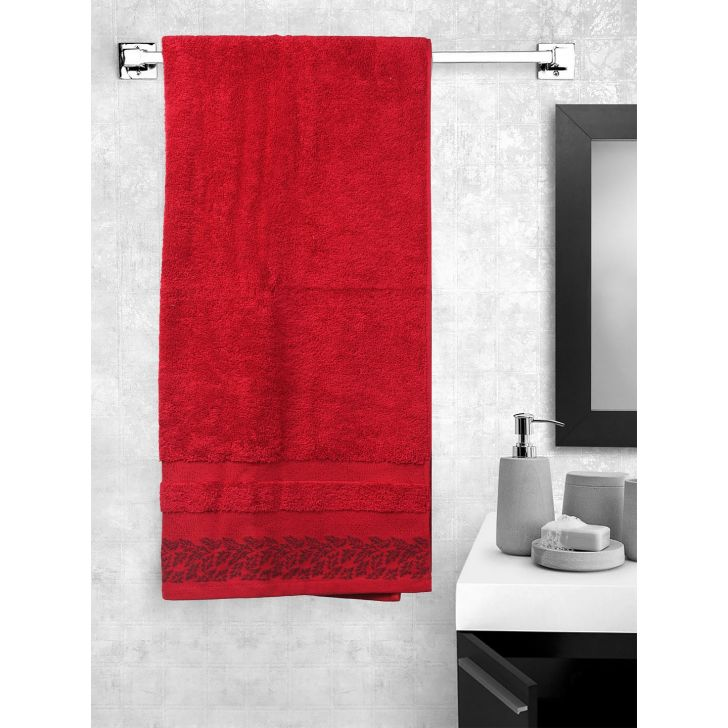 Portico New York Ariana Jacquard : B Bath Towel in African Rust Color by Portico