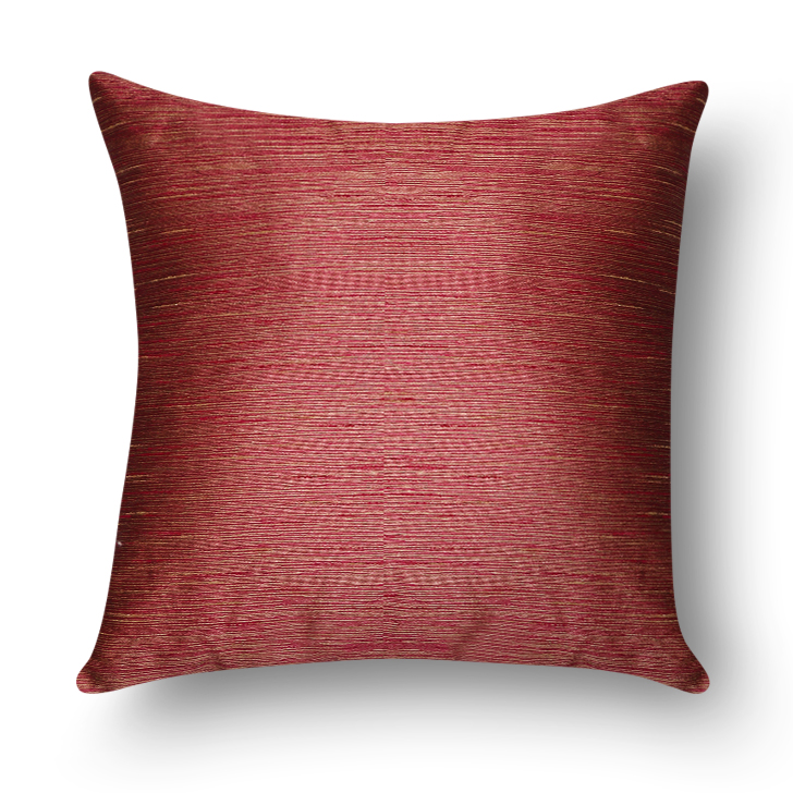 Living Essence Polyester Filled Cushions in Fuchsia & Rust Colour by Living Essence