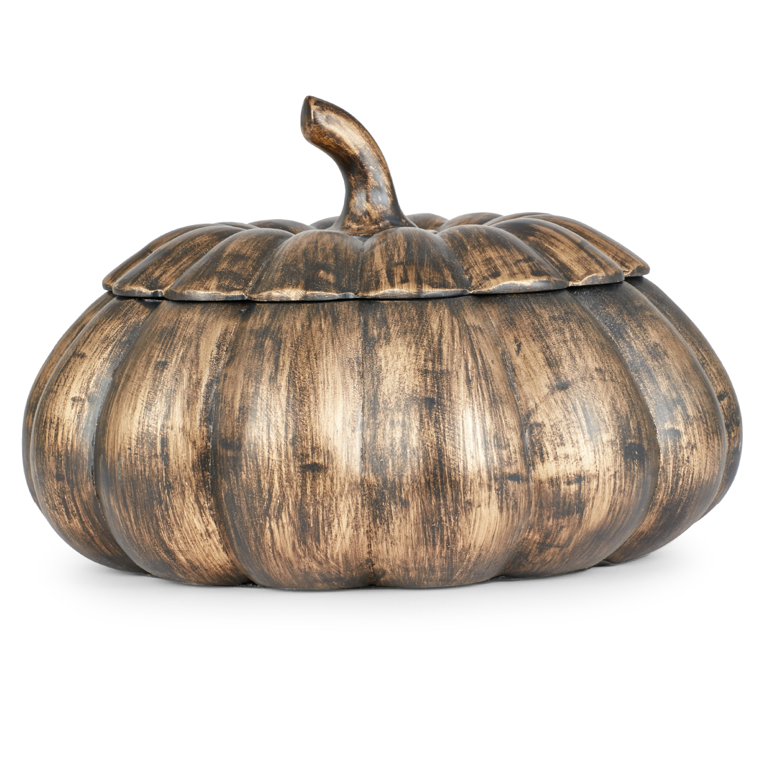 Cellini Pumpkin Brn-Gld Bg 4195Bl-1 Polyresin Table D in Brown Gold Colour by Living Essence