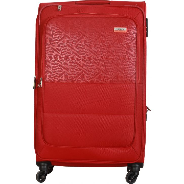 Aristocrat Sorento 4W Expandable Strolly 79 cm Soft Trolley (Red)