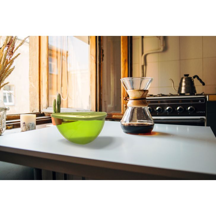 Vienna Serving Bowl Medium Grn Tritan Serving Bowls in Green Colour by Living Essence