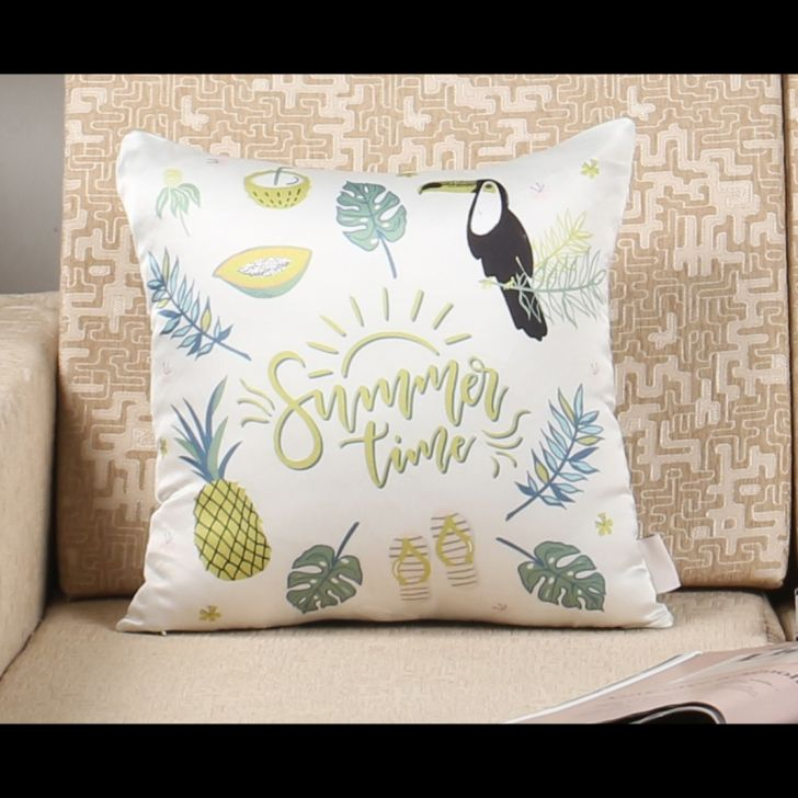 Sivya Polyester Cushion Cover in Multicolor Colour