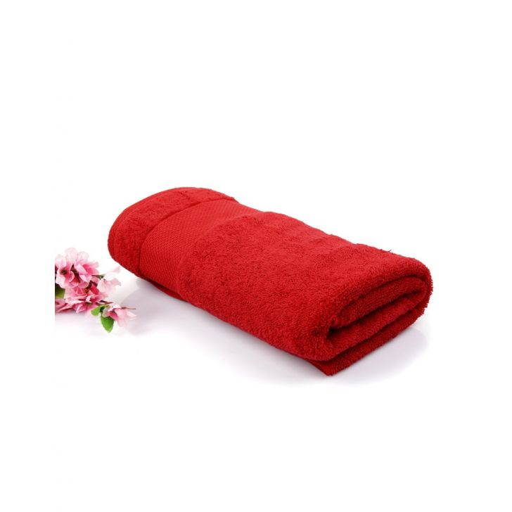 Terry Bath Towel 1 Piece Red