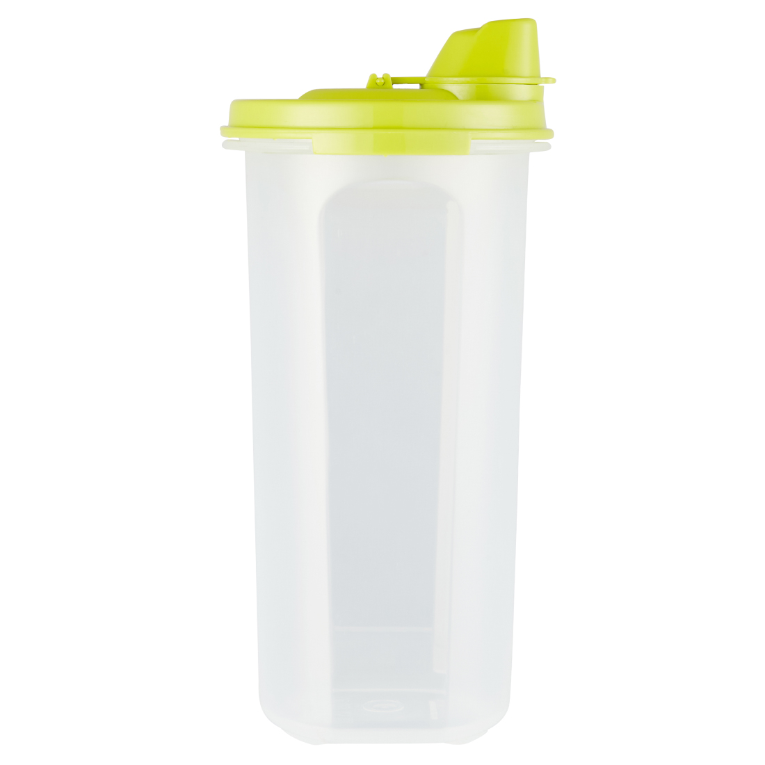 Kitchen Modular Oil Can 650 Ml Grn Plastic Containers in Green Lid And Translucent Bottle Colour by Living Essence