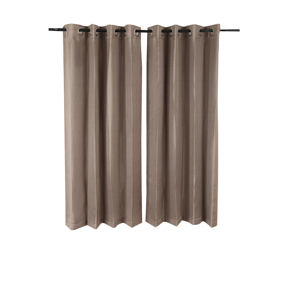 Textura Window Curtain Grey Set of 2 Polyester Window Curtains in Grey Colour by Living Essence