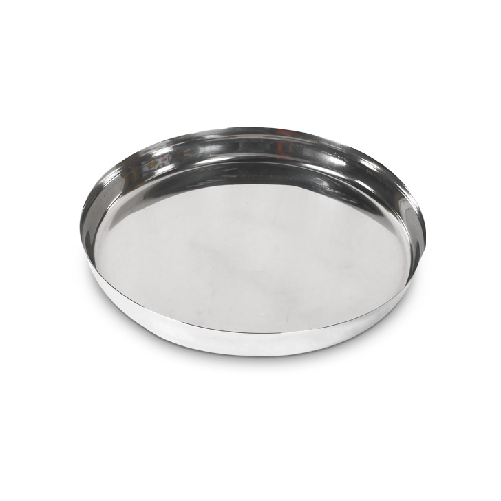 Sada Khumcha Plate Stainless steel Plates in Silver Colour by Living Essence