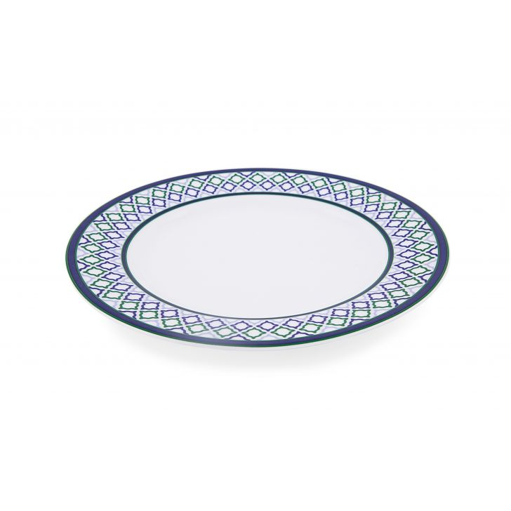 Desert Plate Ceramic Plates in White With Pattern Colour by Living Essence