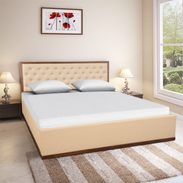 Artemis Engineered Wood Box Storage King Size Bed in Chestnut Colour by HomeTown