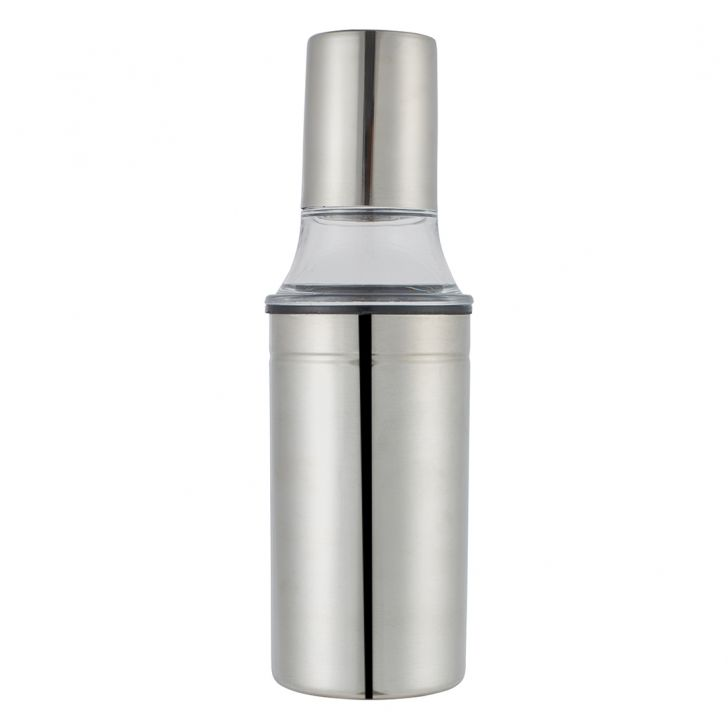 Oil Can Regular 350Ml Stainless steel Oil & Vinegar Cruets in Silver Colour by Living Essence