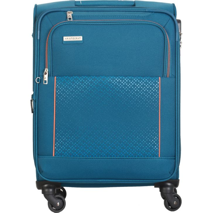 Aristocrat Verrano 4W Expandable Strolly 59 cm Soft Trolley (Blue)
