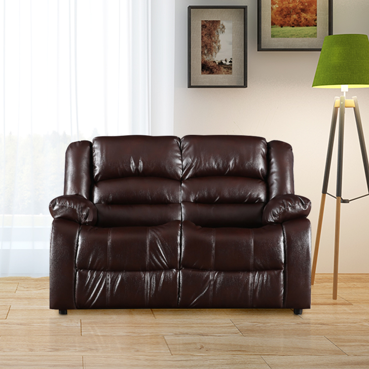 Bradford Fabric Two Seater Sofa in Brown Color by HomeTown
