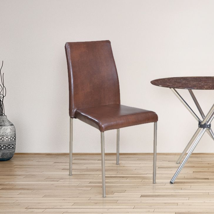 Corral Metal Dining Chair Set of Four in Brown Colour by HomeTown