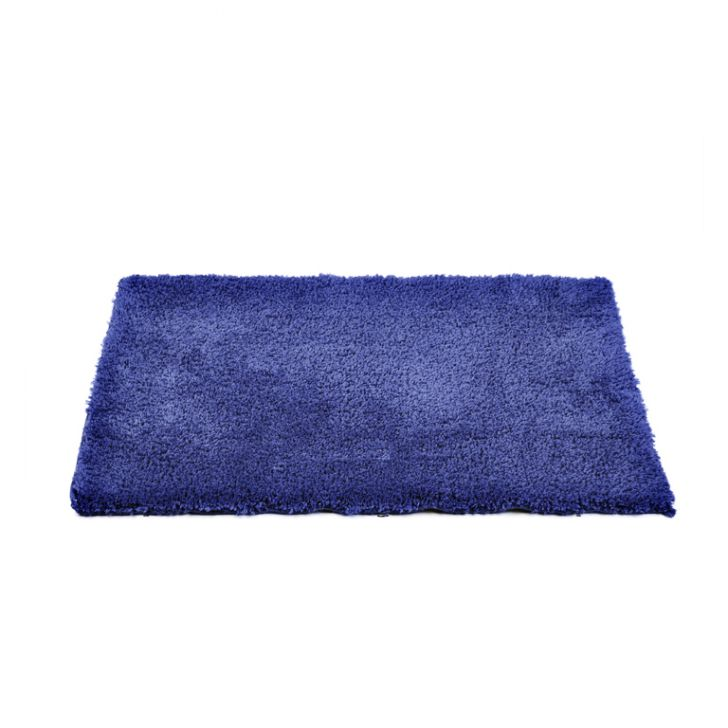 Bath Mat Nora Blue Polyester Bath Mats in Blue Colour by Living Essence
