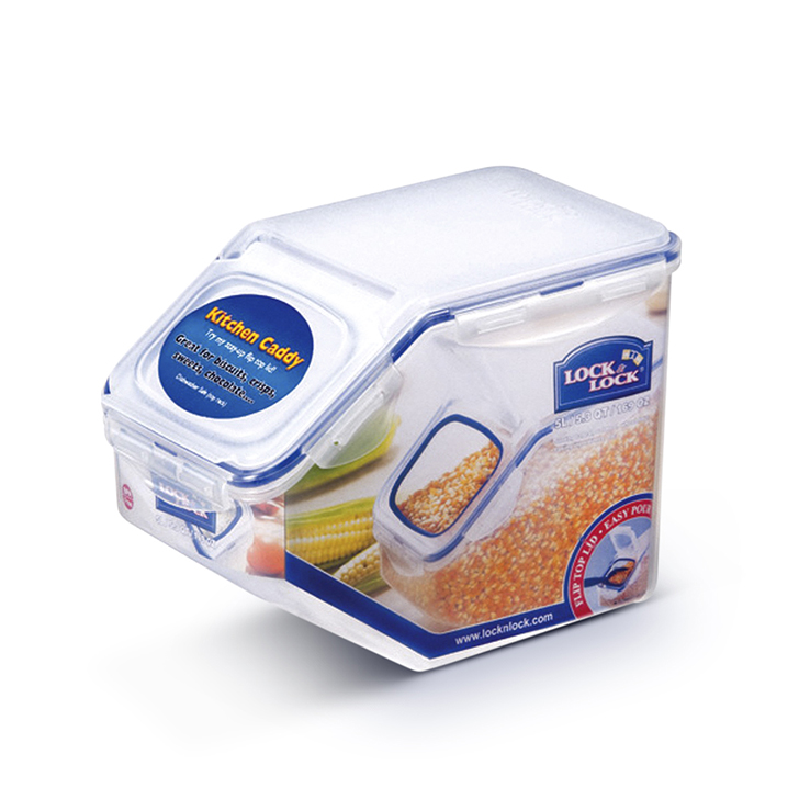 Lock & Lock Classics Storage Bin 5 Ltr Polypropylene Containers in Transparent Colour by Lock & Lock