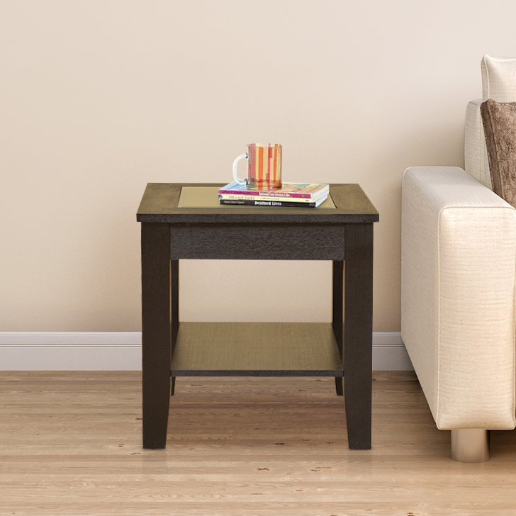 Abby Engineered Wood End Table in Dark Brown Colour by HomeTown