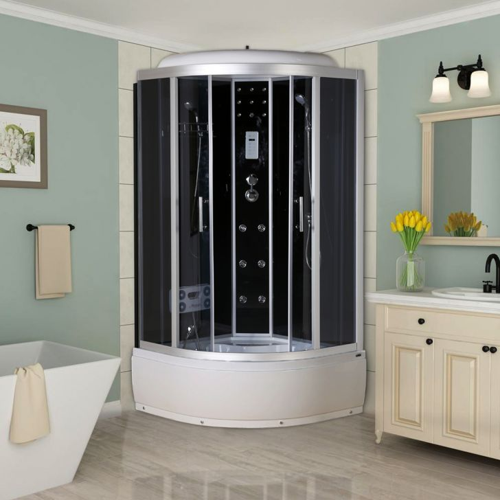 Evian Shower Multifunctions in Black & White Colour by HomeTown