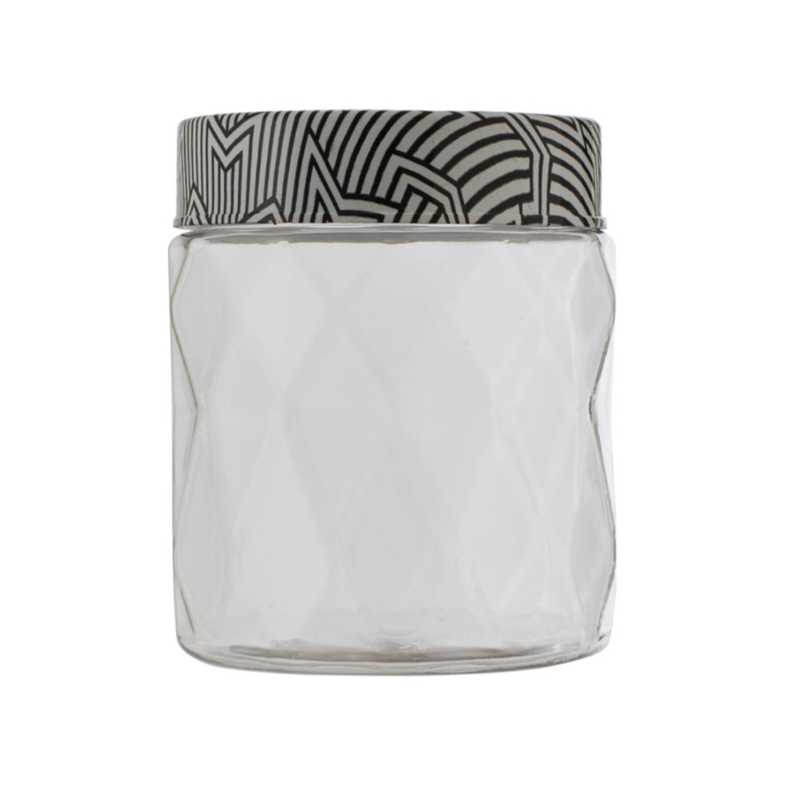 Clark Container 500 ml Glass Containers in Transparent Container & Black Whitelid Colour by Living Essence