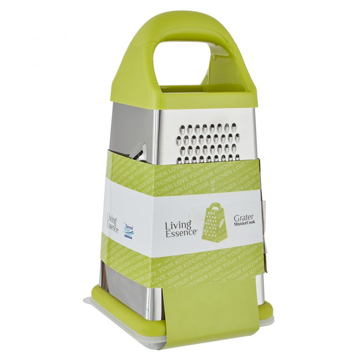 Ss 4 Sided Grater 8 Special Stainless steel Knives & Graters in Silver Colour by Living Essence
