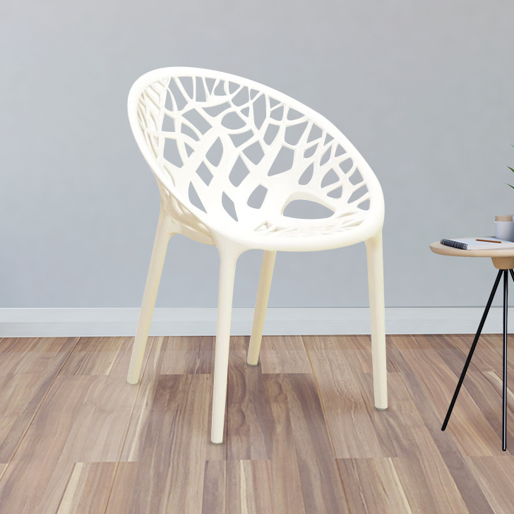 Crystal Plastic Office Chair in Plastic Colour by HomeTown