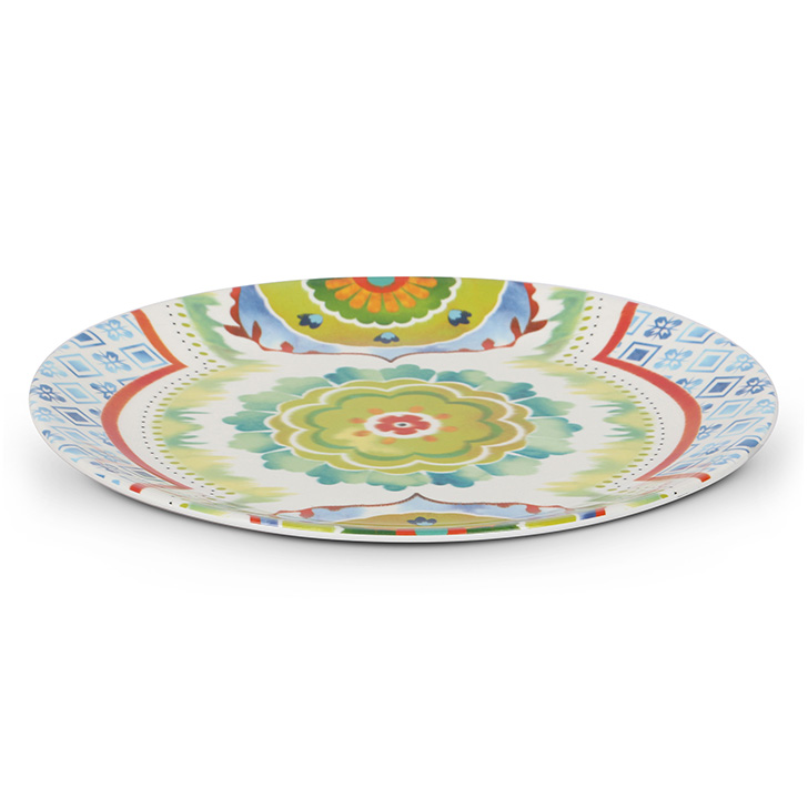 Living Essence Food Grade Melamine Plates in Multicolor Colour by Living Essence