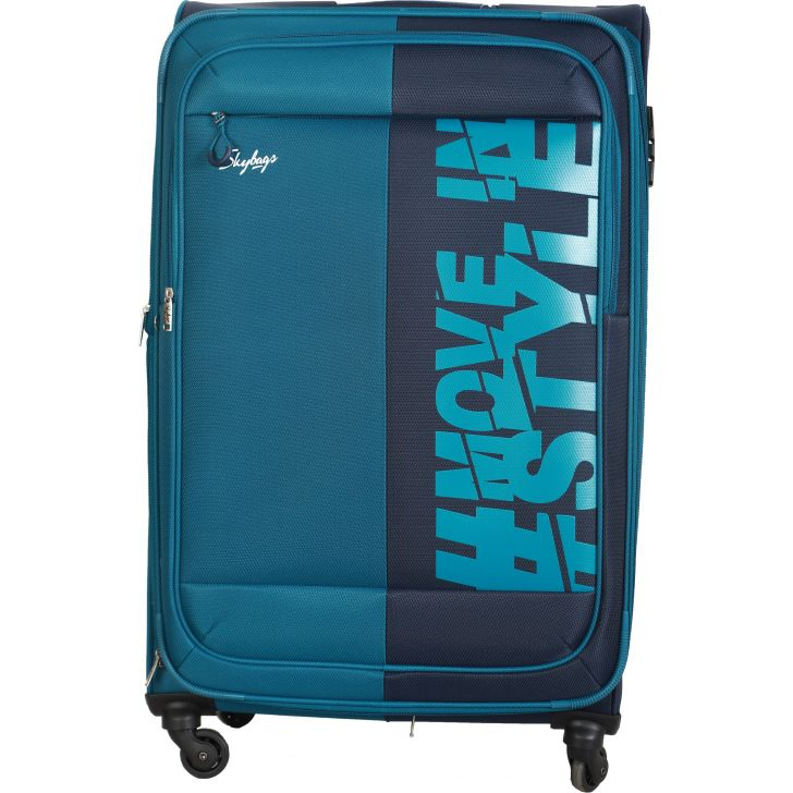 Skybags Fable Expandable Soft Trolley 78 cm (Blue)