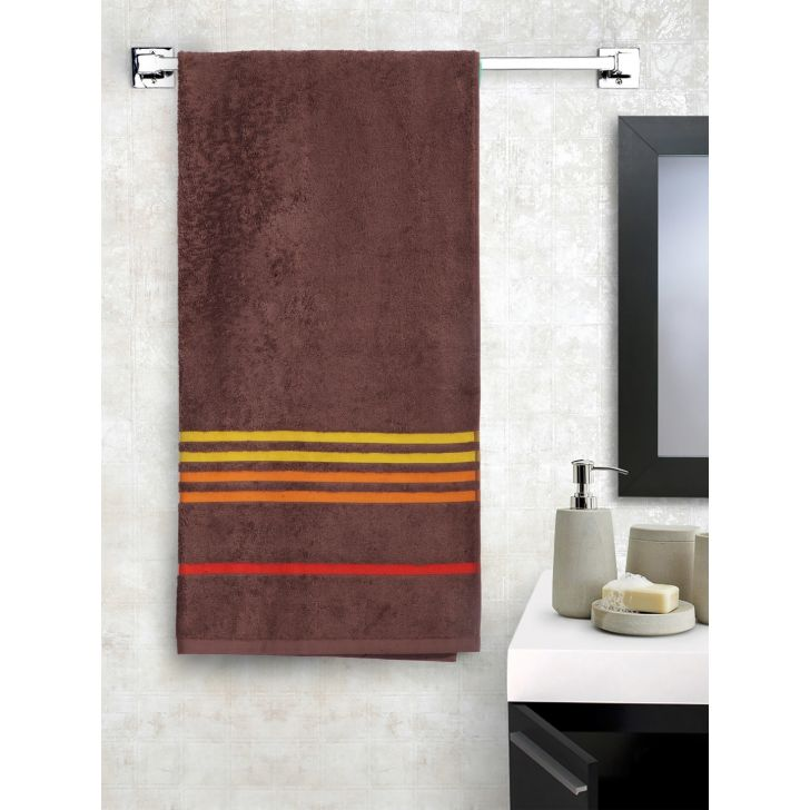 Portico New York Tiara Bath Towel 150 cms x 75 cms in Toffee Brown Color by Portico