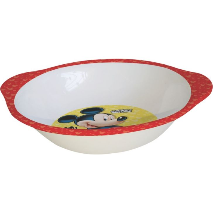 Mickey Melamine Kids Bowl with Handle in Multi Colour by Servewell