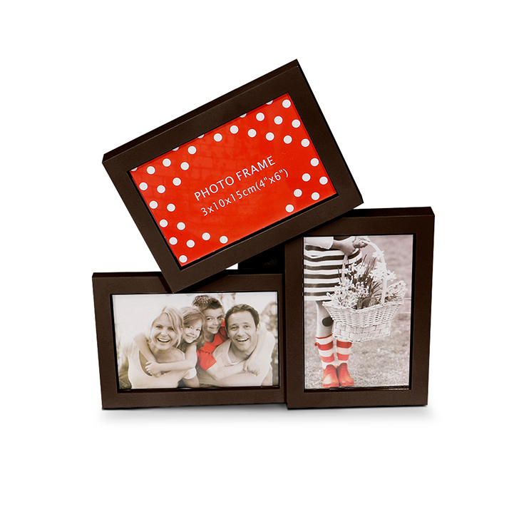 Hometown Theo MDF And Glass 3 Frame Photo Frame Assorted