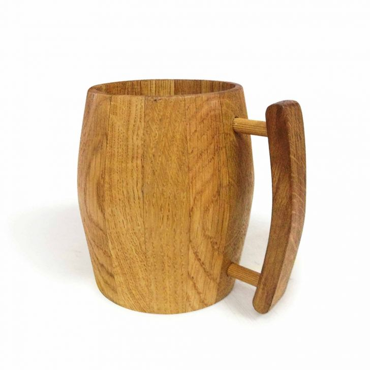 Hot Muggs-Bierfass Wooden Mug ml, Pc Wood Coffee Mugs in Wooden Colour by HotMuggs
