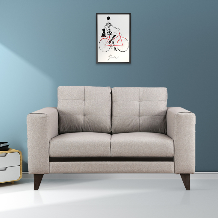 Garcia Fabric Two Seater sofa in Grey Colour by HomeTown