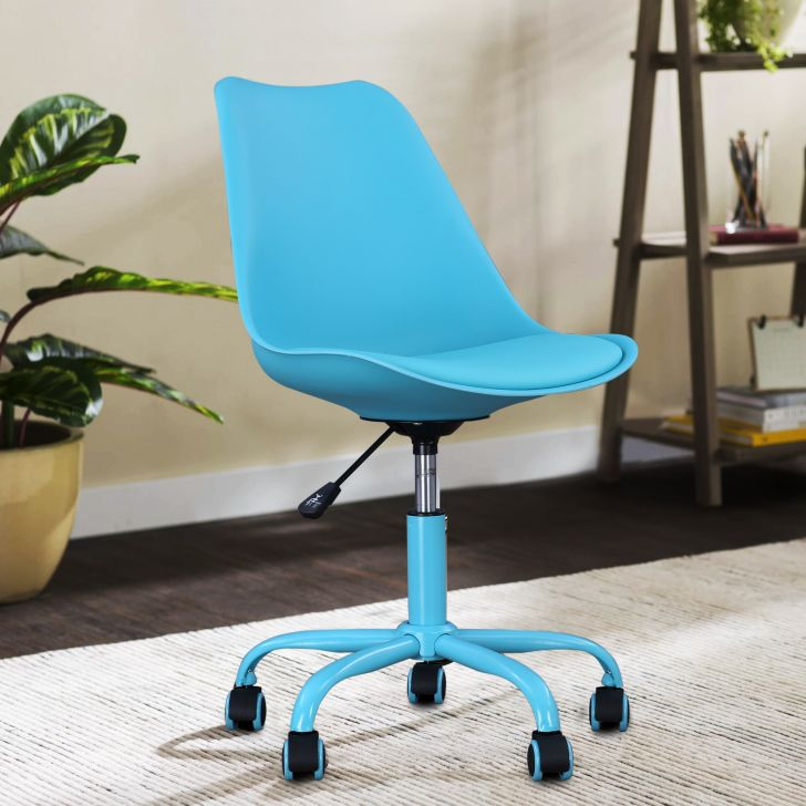 Junior Plastic Study Chair in Teal Colour by HomeTown