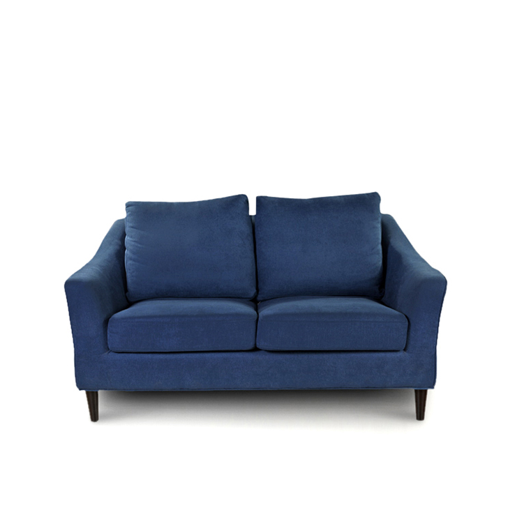 Aztec Fabric Two Seater Sofa in Blue Colour by HomeTown