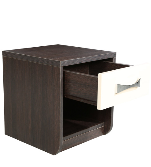 Lotus Engineered Wood Bedside Table in Wenge Colour by HomeTown