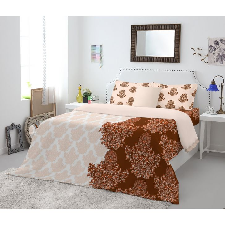 Spaces Atrium Brown 1N Double Bed Sheet
