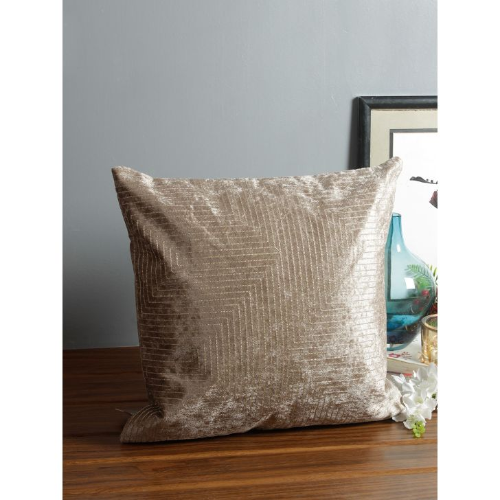 Mirage Polyester Cushion Covers in Toupe Colour by Living Essence