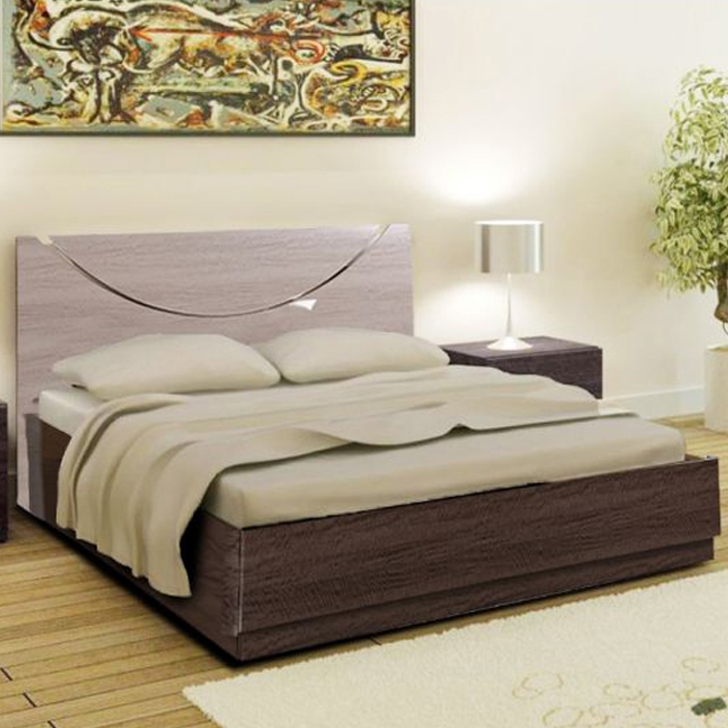 Athena Engineered Wood Hydraulic Storage King Size Bed in Light Marble And Dark Marble Colour by HomeTown