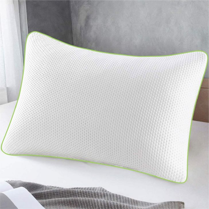 Serenity Memory Foam Pillow 60X40X12 Cms in White Colour by Living Essence