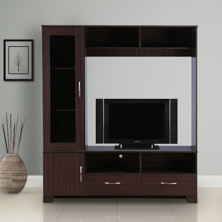 Myra Engineered Wood TV Unit in Walnut Colour by HomeTown