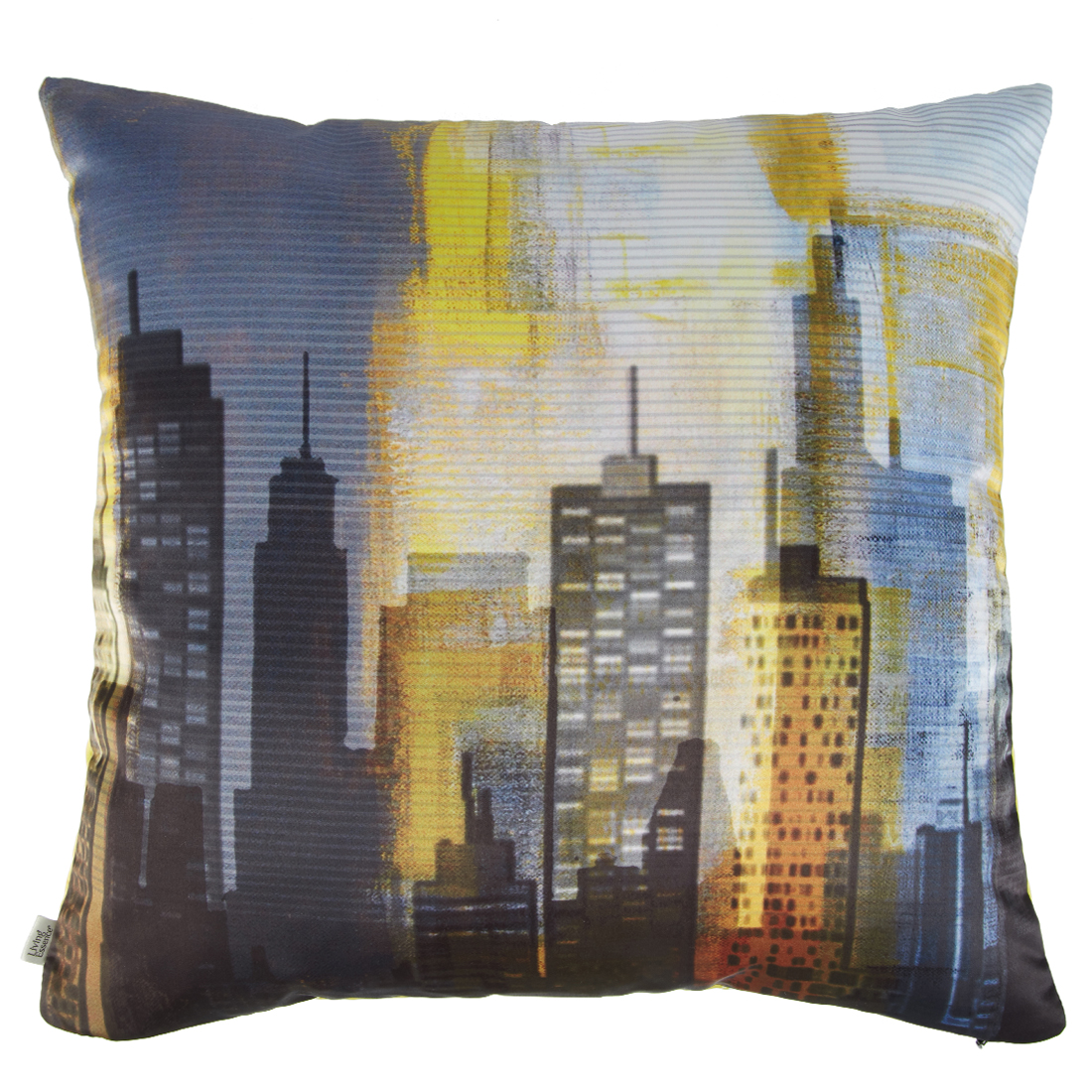 Digital Cushion Cover Skyline Cushion Covers in Poly Satin Colour by Living Essence