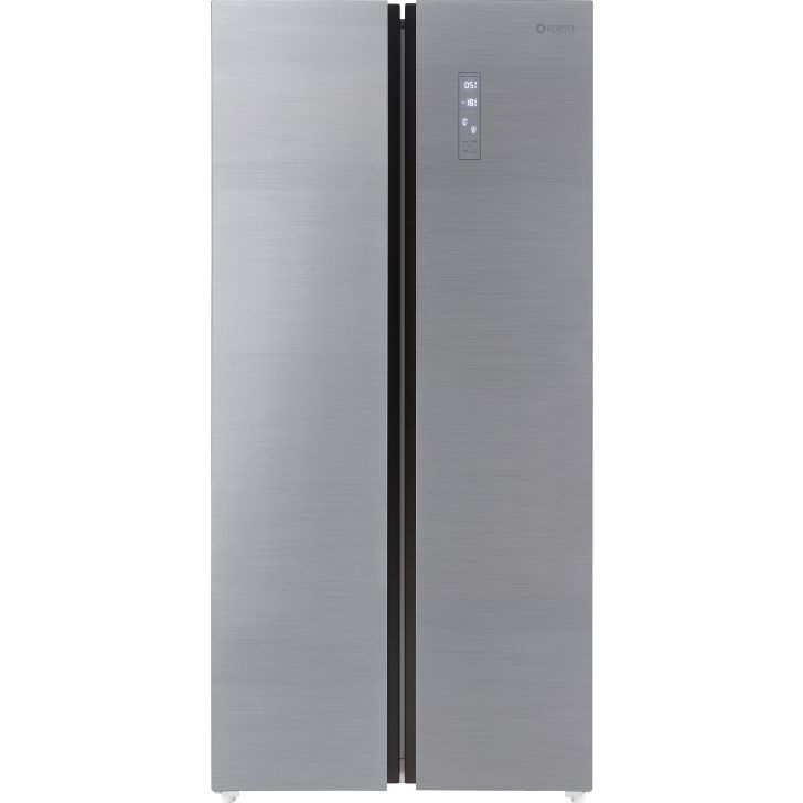 Koryo 509 L Frost Free Side by Side Refrigerator Silver KSBS549INV in Silver Colour by Koryo