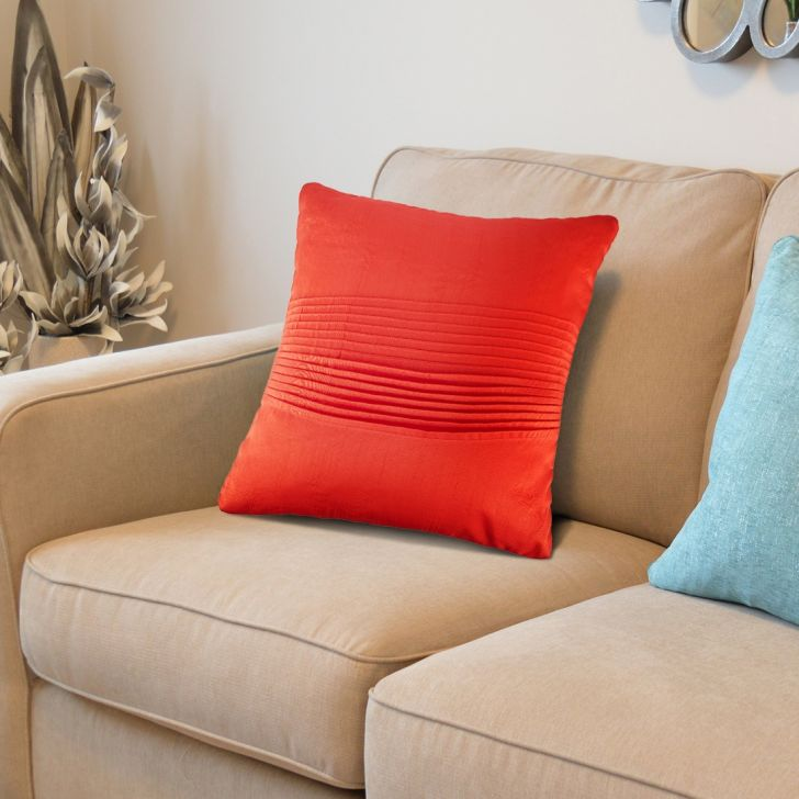 Napa Cotton Cushion Covers in Rust Colour by Living Essence